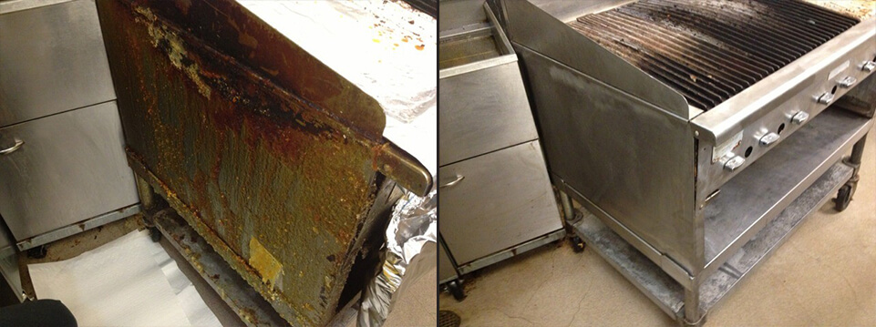 Before and After Photos of Kitchen Equipment Cleaned
